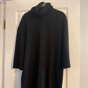 Zara black mock neck cotton dress